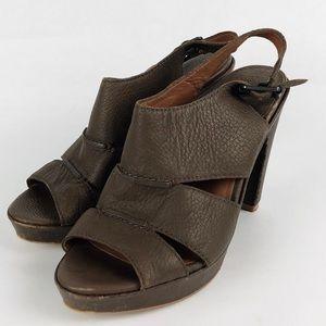 Lucky Brand High Heels Size 6.5 Brown Slingback